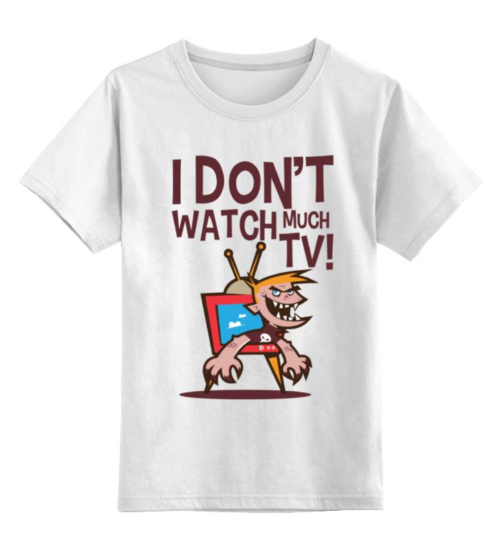 Детская футболка классическая унисекс Printio Я не смотрю телек детская футболка классическая унисекс printio я покажу тебе мир