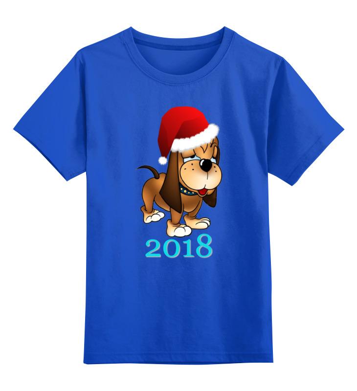 Детская футболка классическая унисекс Printio Новый 2018 год футболка классическая printio новый год 2018
