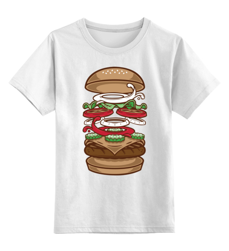 Детская футболка классическая унисекс Printio Burger/бургер майка классическая printio burger бургер