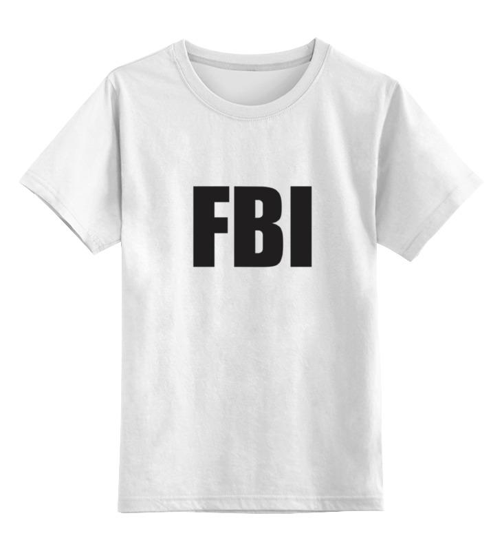 Детская футболка классическая унисекс Printio Fbi agent franke fbi 722 xs