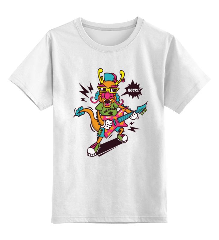 Детская футболка классическая унисекс Printio Рок дракон детская футболка классическая унисекс printio дракон и феникс