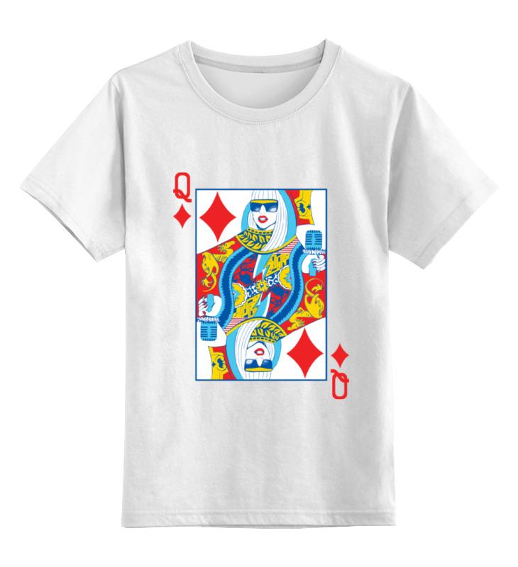Детская футболка классическая унисекс Printio Леди гага (lady gaga) настольная игра gaga гага дуэль двух миров gg058