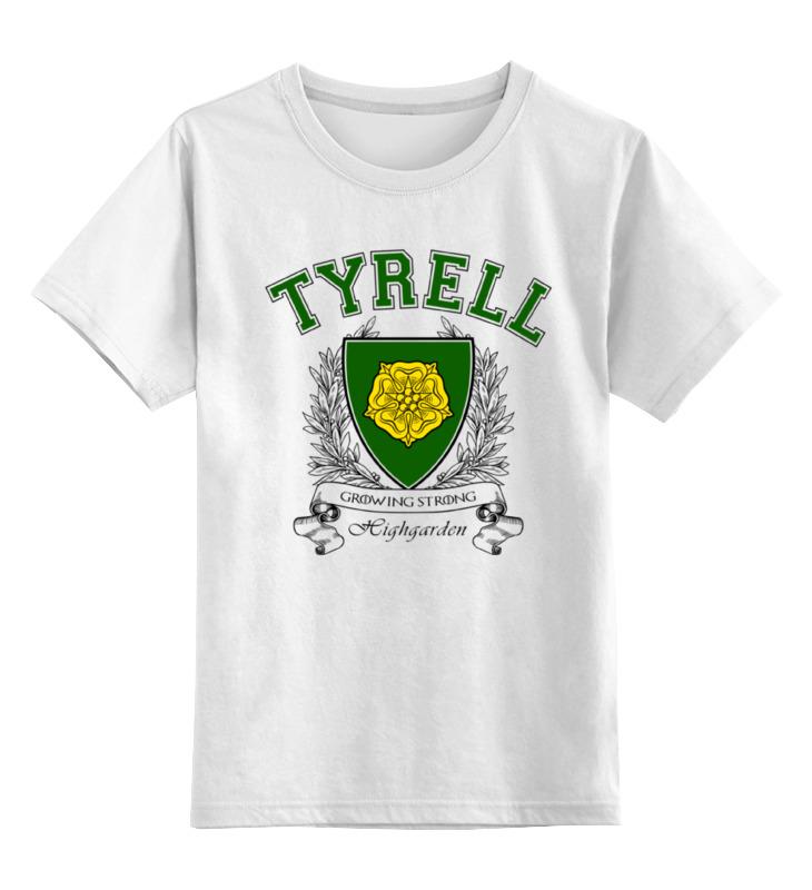Детская футболка классическая унисекс Printio Игра престолов. дом тиреллов детская футболка классическая унисекс printio игра слов