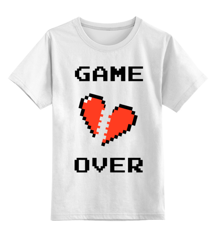 Детская футболка классическая унисекс Printio Game over (игра окончена) детская футболка классическая унисекс printio игра слов