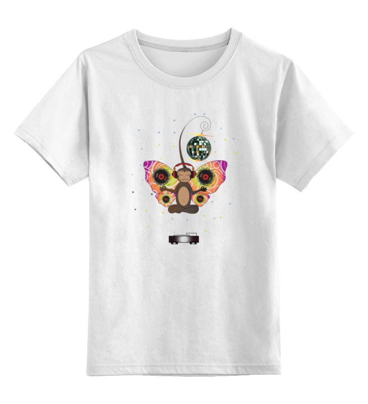 Детская футболка классическая унисекс Printio Обезьянка диджей fancy сумка рюкзак детская обезьянка