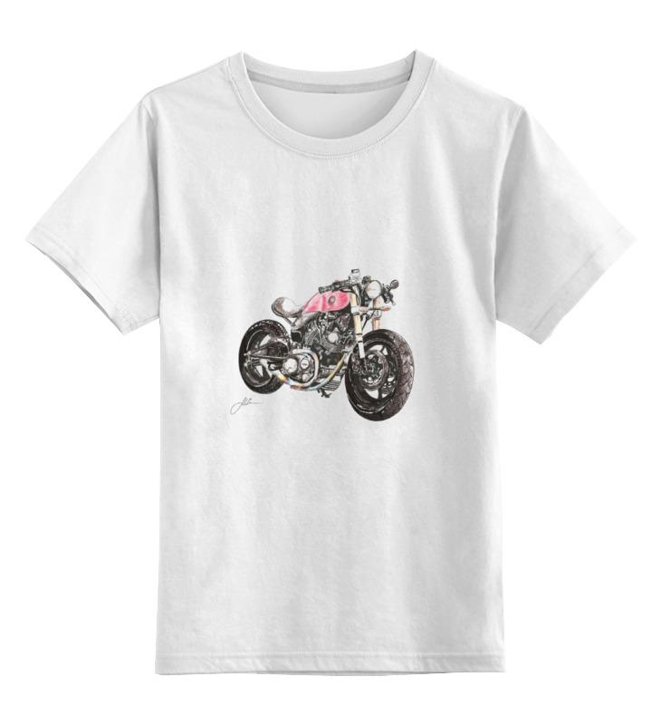 Детская футболка классическая унисекс Printio Мотоцикл цена и фото