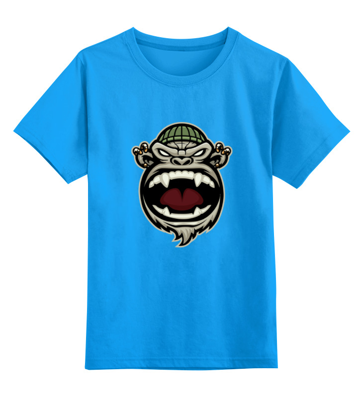 Детская футболка классическая унисекс Printio Обезьяна (monkey) детская футболка классическая унисекс printio hamlet monkey