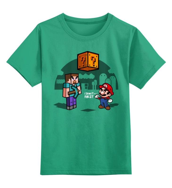 Детская футболка классическая унисекс Printio Майнкрафт & супер ма��ио belvedere коррекция объ ма