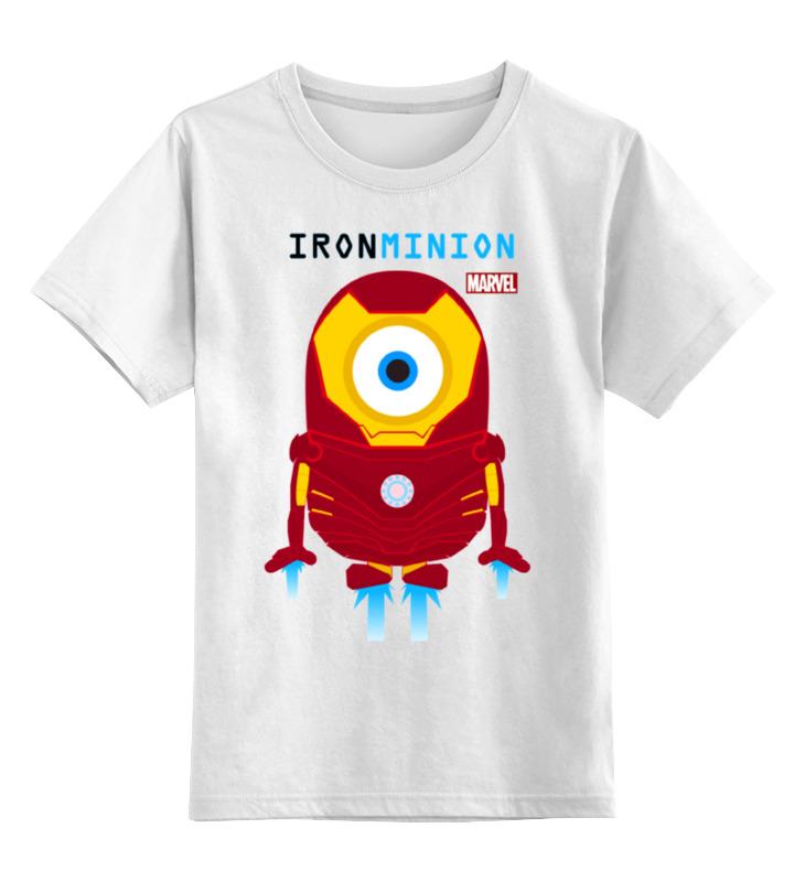 Детская футболка классическая унисекс Printio Minion iron man (миньон - железный человек)