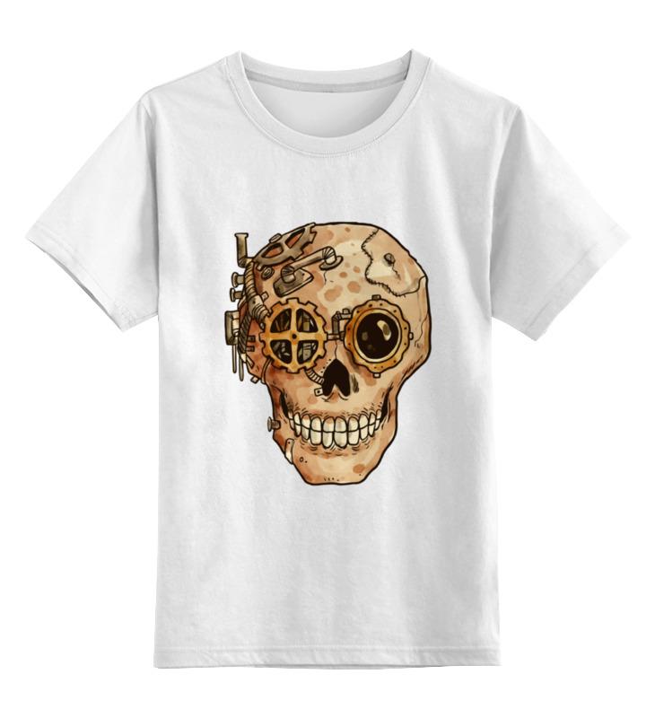 Детская футболка классическая унисекс Printio Череп киборга шу л радуга м энергетическое строение человека загадки человека сверхвозможности человека комплект из 3 книг