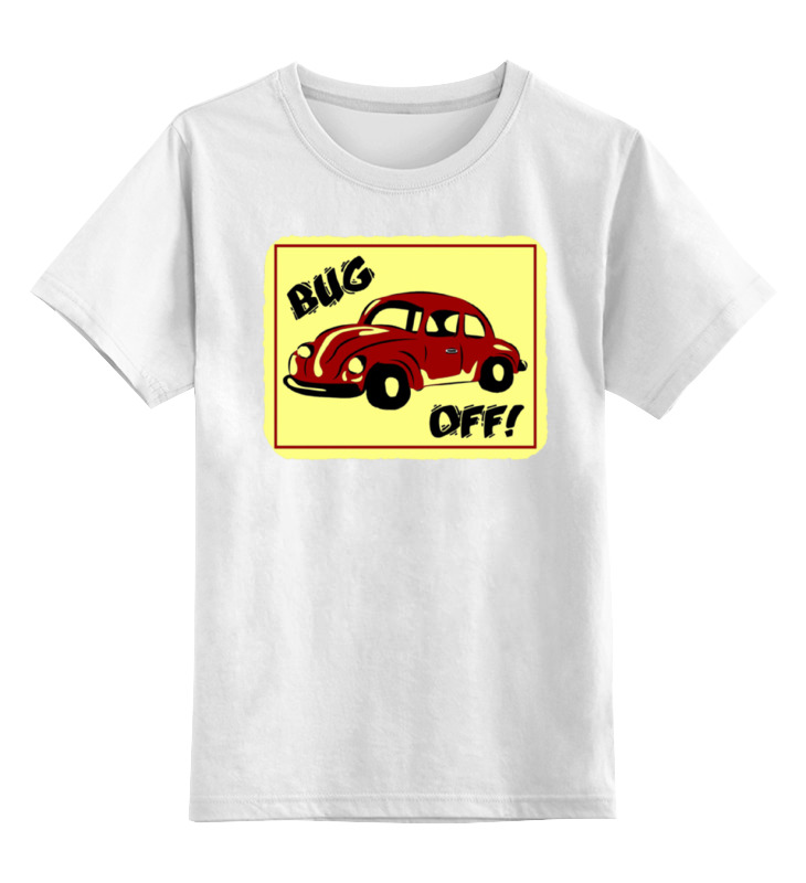 Детская футболка классическая унисекс Printio Bug off лонгслив printio bug off