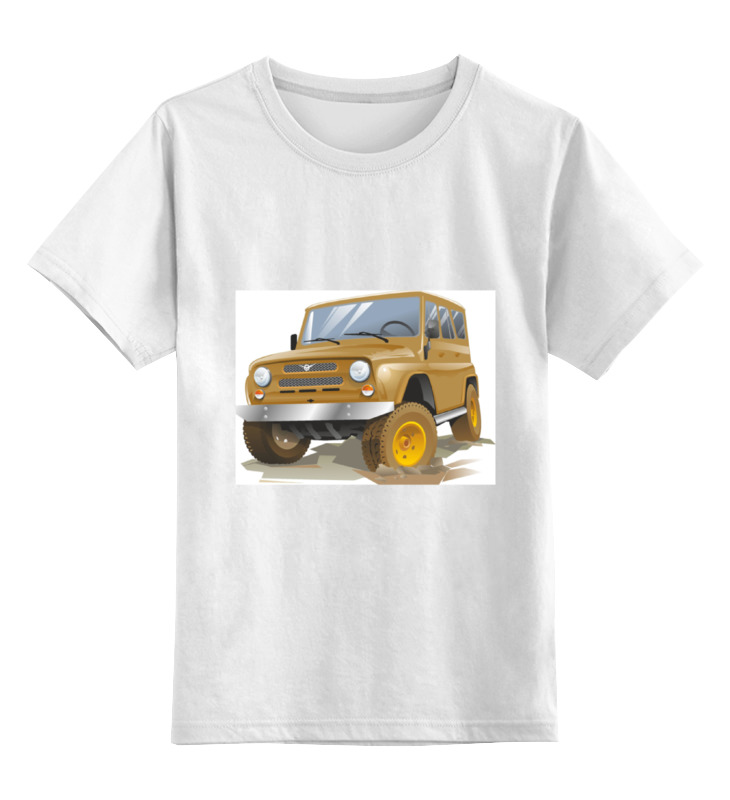 Детская футболка классическая унисекс Printio Автомобиль уаз автомобиль уаз 469 в спб