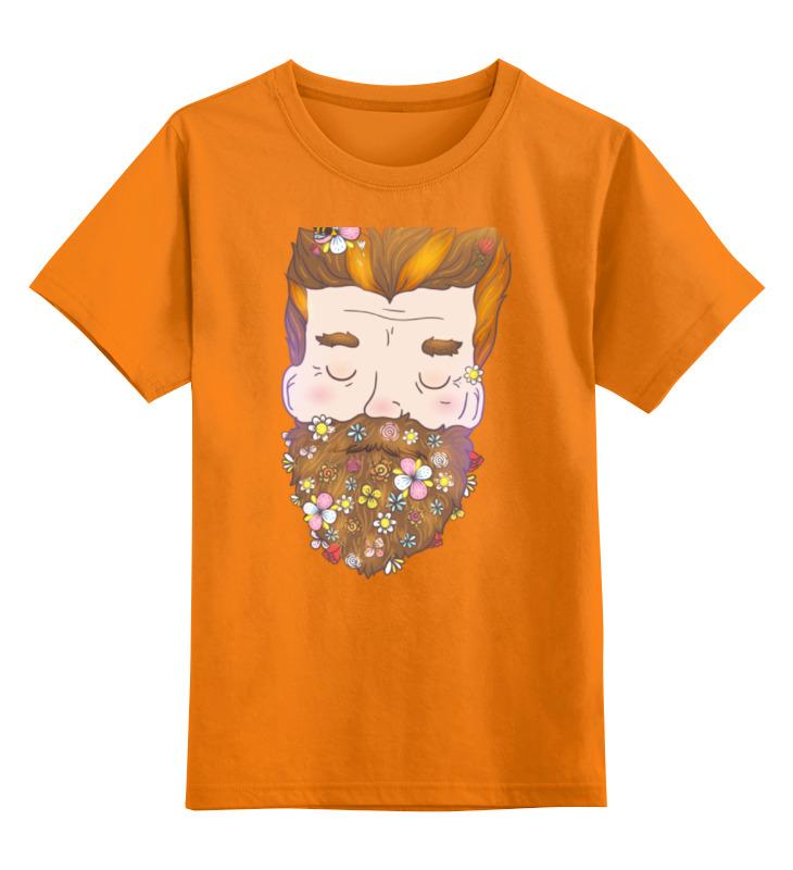 Детская футболка классическая унисекс Printio Цветочная борода