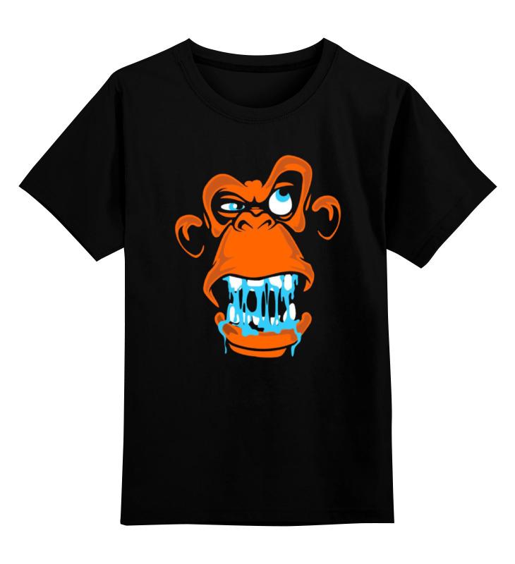 Детская футболка классическая унисекс Printio Новый год(обезьяна) детская футболка классическая унисекс printio обезьяна monkey