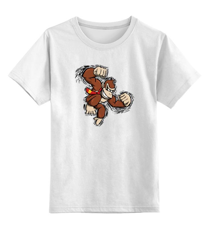 Детская футболка классическая унисекс Printio Обезьяна лонгслив printio donkey kong