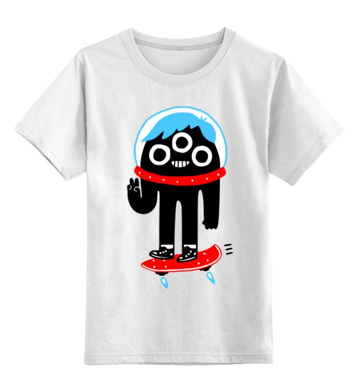 Детская футболка классическая унисекс Printio Монстрик на скейте детская футболка классическая унисекс printio дракула на скейте
