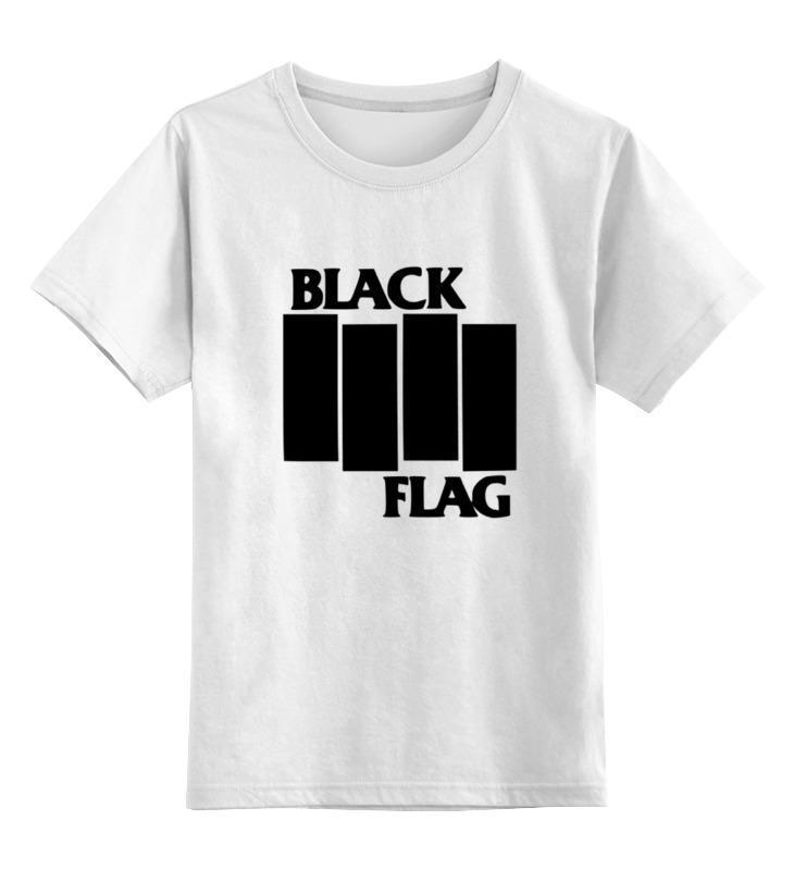 Детская футболка классическая унисекс Printio Black flag футболка print bar russian flag
