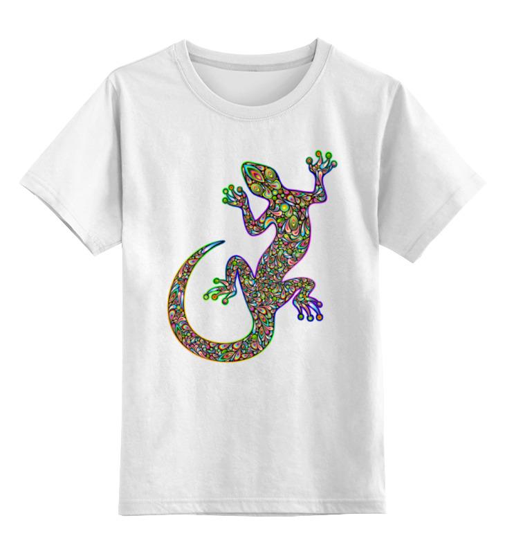 Детская футболка классическая унисекс Printio Саламандра