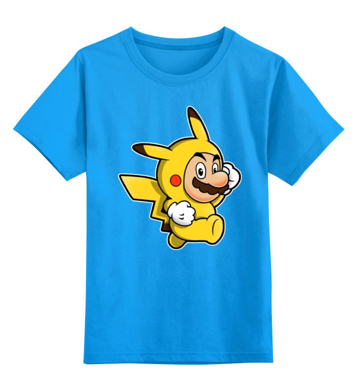 Детская футболка классическая унисекс Printio Mario x pokemon салфетка страна карнавалия с днем рождения свечи 25x25cm 20шт 3536834