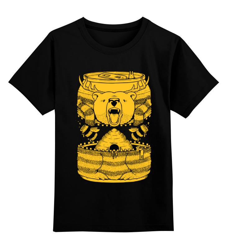 Детская футболка классическая унисекс Printio Bear beer /медведь лонгслив printio bear beer медведь и мед