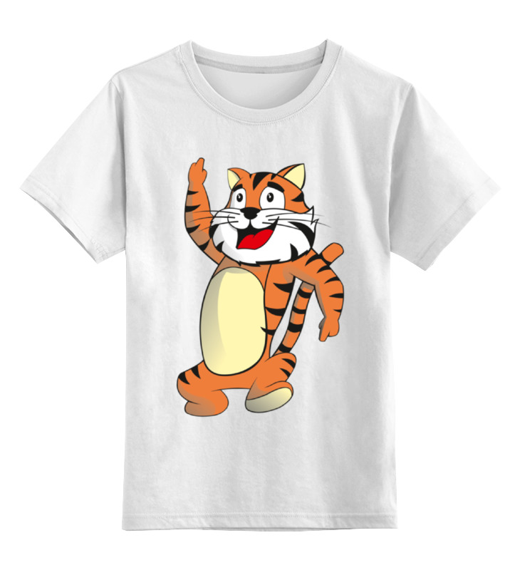 цена на Детская футболка классическая унисекс Printio Тигренок
