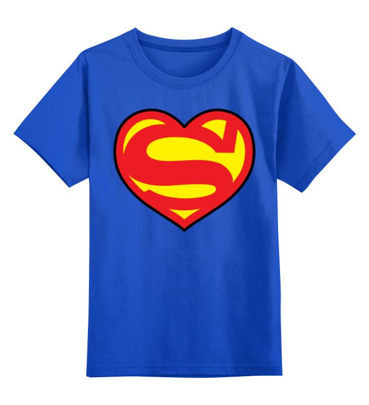 Детская футболка классическая унисекс Printio Я люблю супермена цена и фото