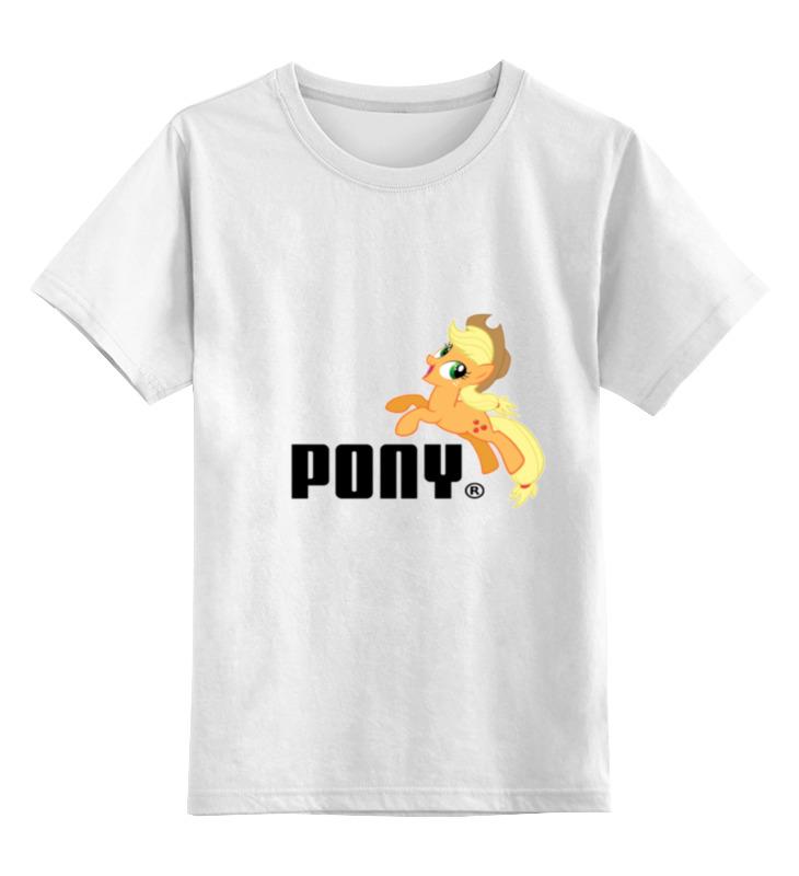 Детская футболка классическая унисекс Printio Pony цена и фото