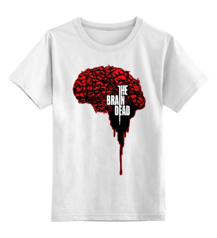 Детская футболка классическая унисекс Printio Мозг умер (зло внутри) майка классическая printio мозг умер зло внутри