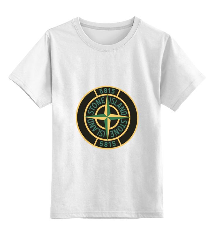 где купить Детская футболка классическая унисекс Printio Stone island по лучшей цене