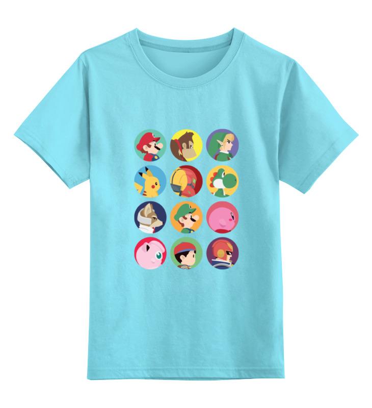 Детская футболка классическая унисекс Printio Все герои nintendo! детская футболка классическая унисекс printio гонг конг 2