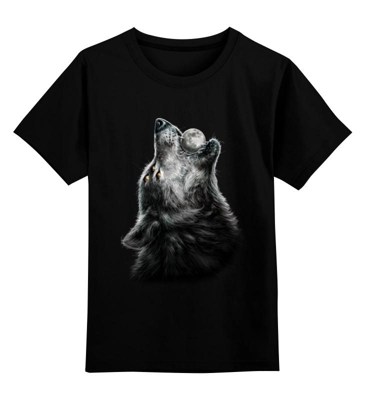 Детская футболка классическая унисекс Printio Волк и луна футболка стрэйч printio волк и луна
