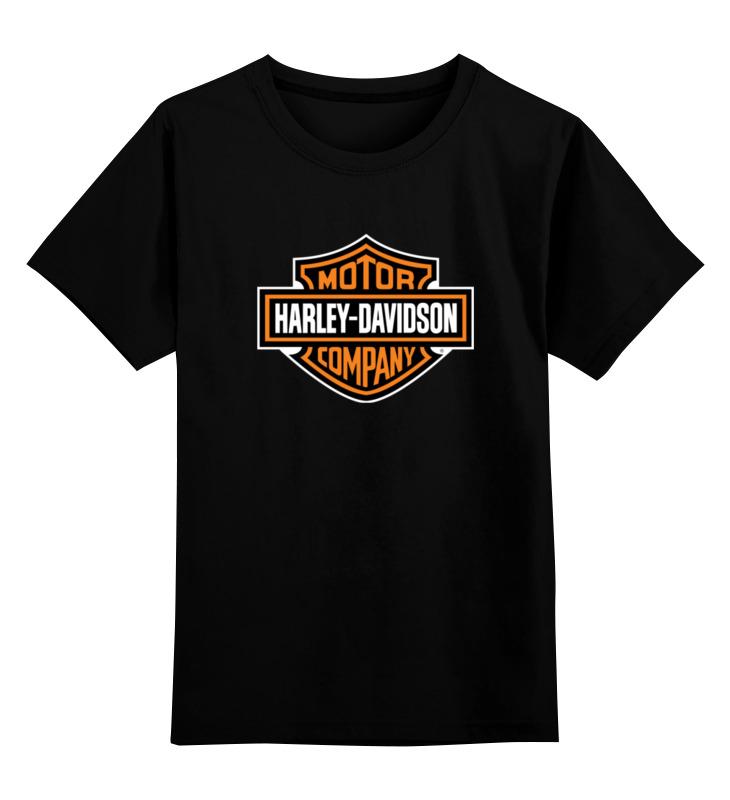 Детская футболка классическая унисекс Printio Motor harley davidson chrome custom motorcycle skeleton mirrors for harley davidson softail heritage classic