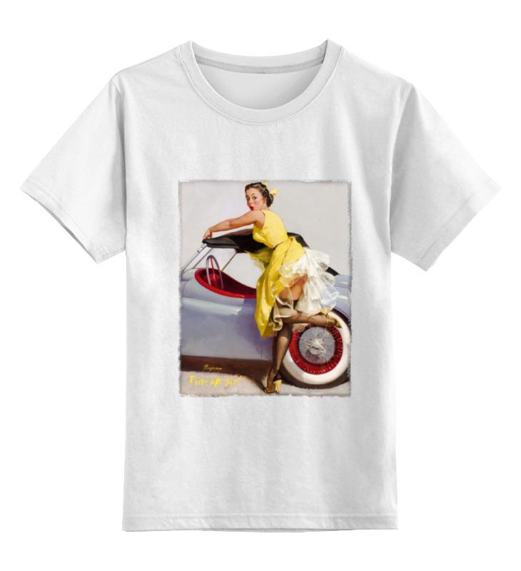 Детская футболка классическая унисекс Printio Pin-up girl vintage polka dot pin up skater dress