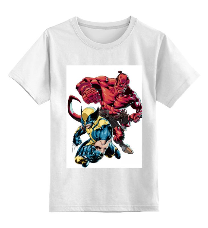 Детская футболка классическая унисекс Printio Росомаха и хеллбой детская футболка классическая унисекс printio миньон росомаха