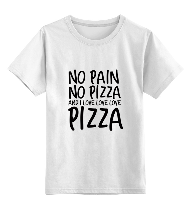 Детская футболка классическая унисекс Printio Пицца цена и фото