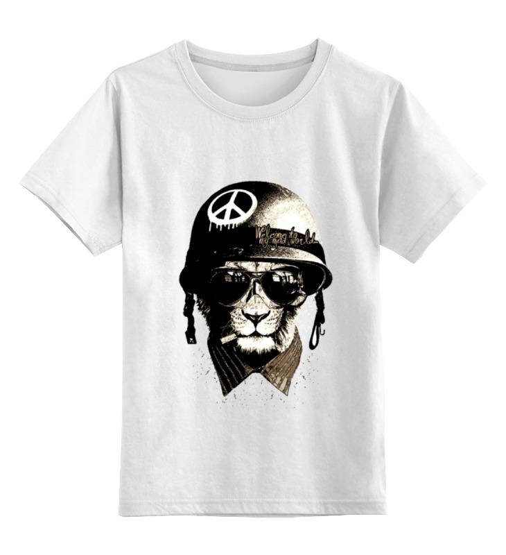 Детская футболка классическая унисекс Printio Брутальный лев. welcome to mad world детская футболка классическая унисекс printio welcome to russia