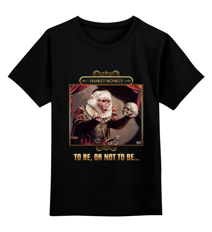 Детская футболка классическая унисекс Printio Hamlet monkey лонгслив printio hamlet monkey