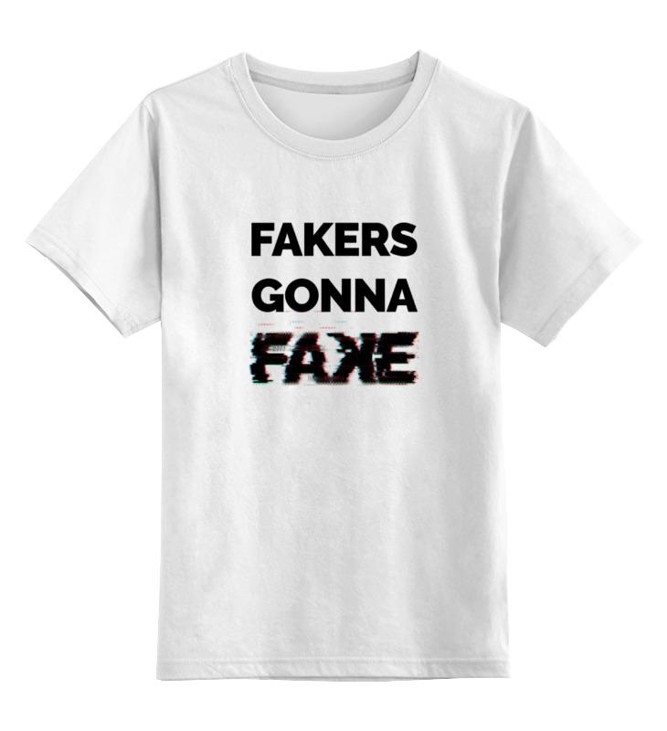Детская футболка классическая унисекс Printio Fakers gonna fake (taylor swift - shake it off)