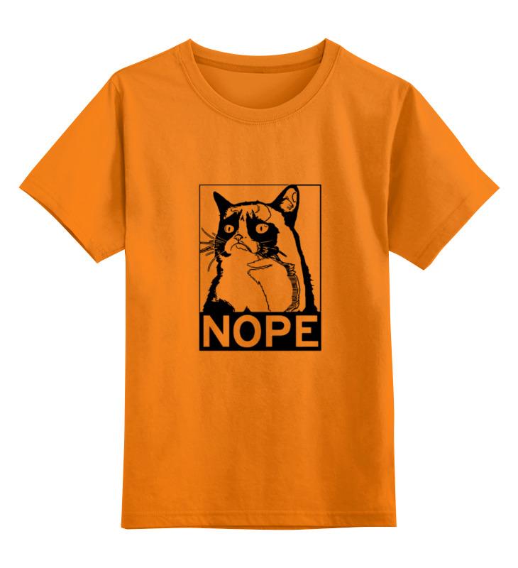 Детская футболка классическая унисекс Printio Сердитый котик / grumpy cat (штамп)