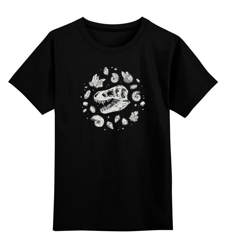 Детская футболка классическая унисекс Printio Dino bones
