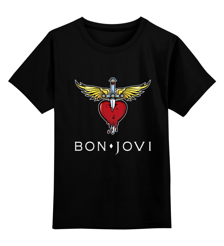 Детская футболка классическая унисекс Printio Bon jovi