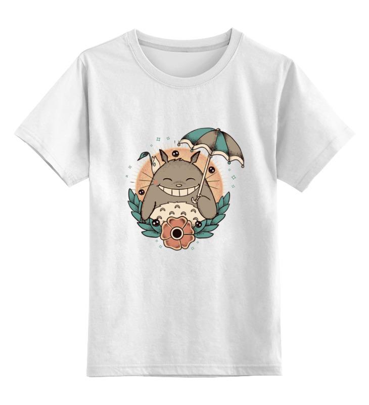 Детская футболка классическая унисекс Printio Smile totoro