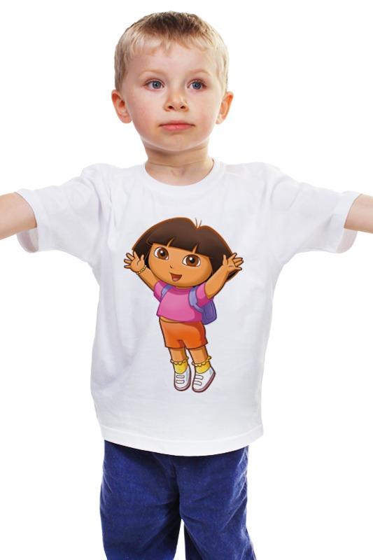 Детская футболка классическая унисекс Printio Даша-путешественница