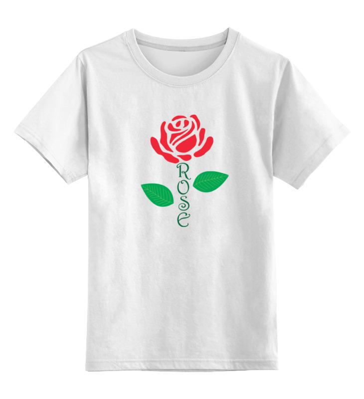 цена Детская футболка классическая унисекс Printio Роза (rose) онлайн в 2017 году