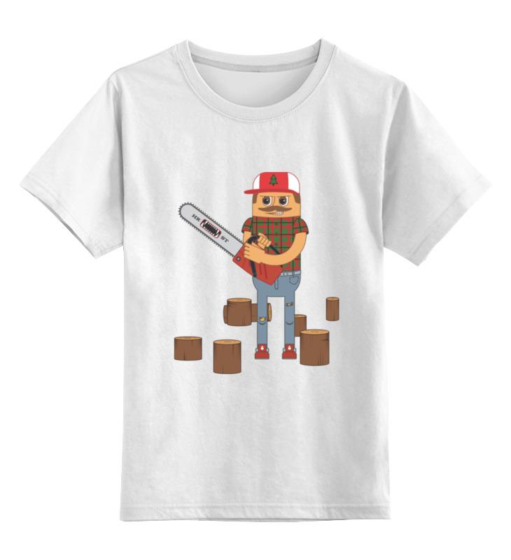 Детская футболка классическая унисекс Printio Лесоруб