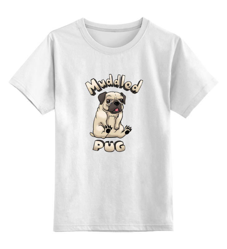 Детская футболка классическая унисекс Printio Muddled pug детская футболка классическая унисекс printio шахматиста
