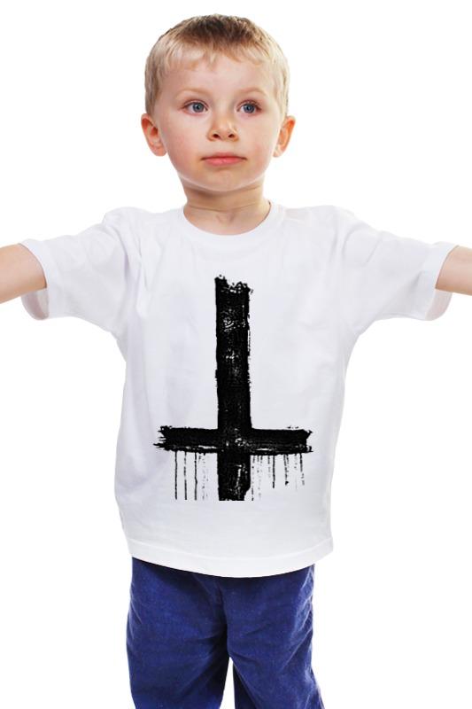 Детская футболка классическая унисекс Printio Крест smile cloud led wall lamp