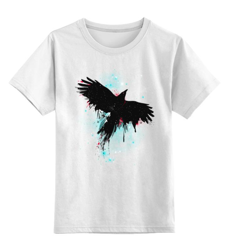 Детская футболка классическая унисекс Printio Космическая птица космическая валюта наивысшее богатство