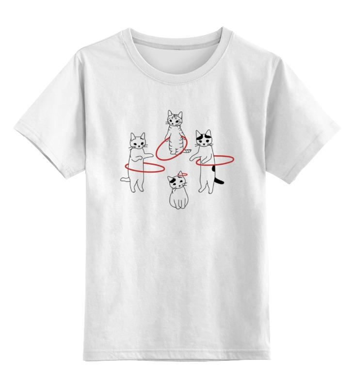 Детская футболка классическая унисекс Printio Cats and hoops