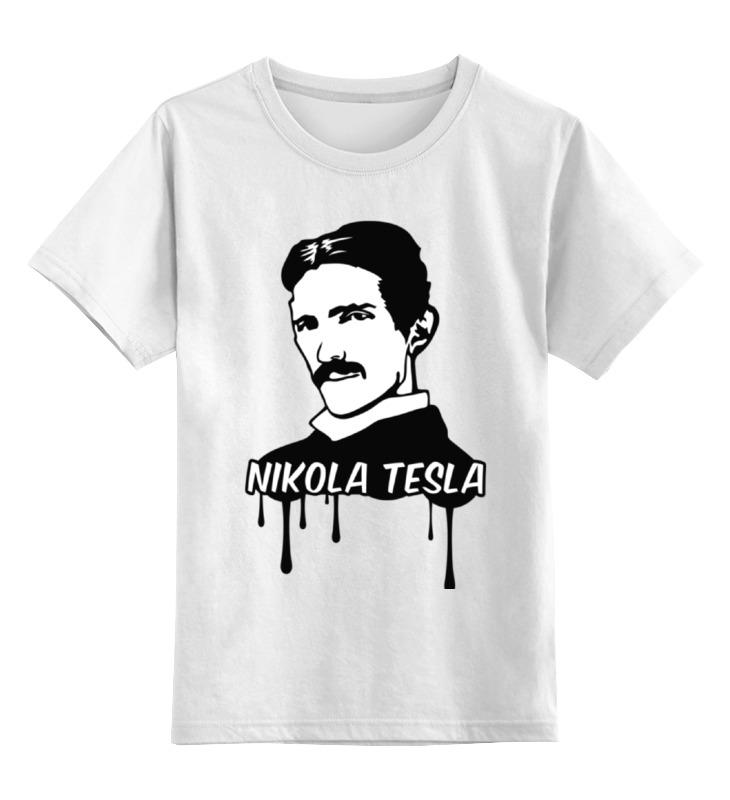 Детская футболка классическая унисекс Printio Никола тесла свитшот мужской с полной запечаткой printio никола тесла изобретатель гений
